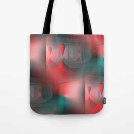 mirrored globs red and green Tote Bag