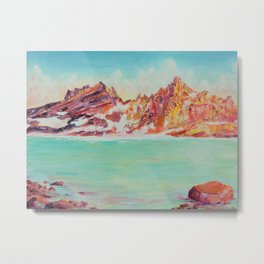 Broken Top Lake Metal Print