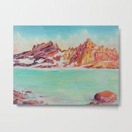 Broken Top Lake Metal Print