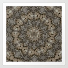 Natural Earth Tones Mandala Pattern Art Print