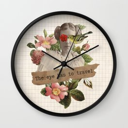 The eyes has to travel Wall Clock