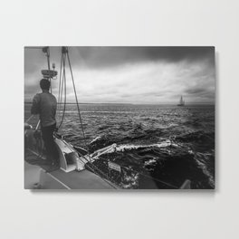 Stormy Sailing on Chappy Metal Print