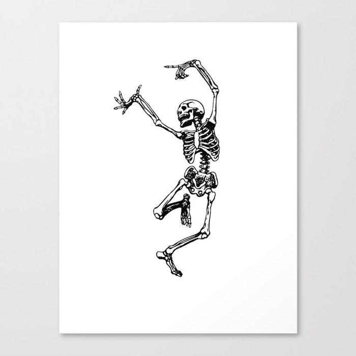 DANCING SKULL Leinwanddruck