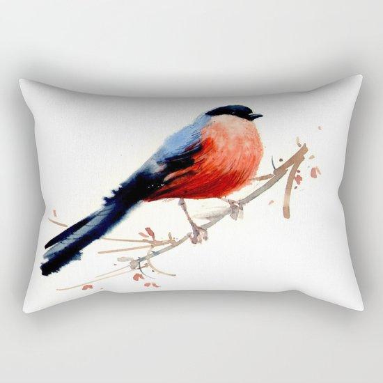 Red belly Rectangular Pillow