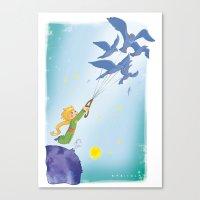 le petit prince Canvas Prints featuring Le Petit Prince by karicola