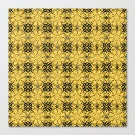 Primrose Yellow Floral Geometric Canvas Print