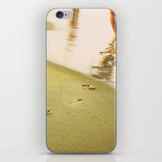 Beach walking iPhone & iPod Skin