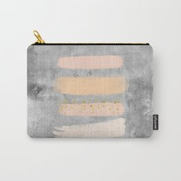 Pastel Stripes on Concrete Carry-All Pouch
