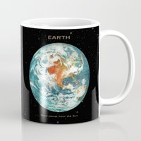 earth Mugs featuring Earth by Terry Fan