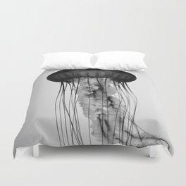 Jellyfish Black and White Duvet Cover