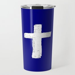 Christian Cross Chalk version Travel Mug