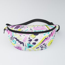 Postmodern Watercolor Abstract Surf Print Fanny Pack