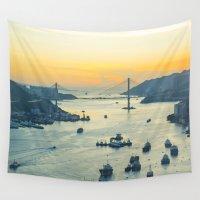 hong kong Wall Tapestries featuring Hong Kong by Rothko