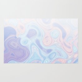 Liquid Pastel Marble Ombre 1. lilac, nude and aqua #pastelvibes #homedecor #buyart Rug