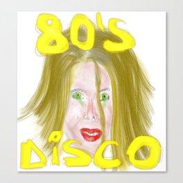 disco 80s Canvas Print