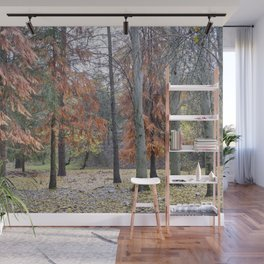 Red forest. Into the woods.... Wall Mural