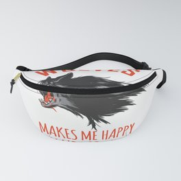 Wolves Makes Me Happy You Not So Much Fanny Pack