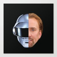 nicolas cage Canvas Prints featuring Daft Cage by Jared Cady