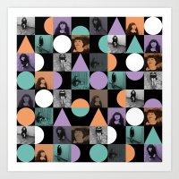 pastel goth Art Prints featuring Geometric Pastel Goth by k8goff