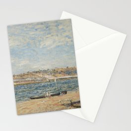 Alfred Sisley 1839 - 1899 THE WATERFRONT IN ST mammes Stationery Cards