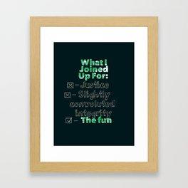 For the Fun Framed Art Print