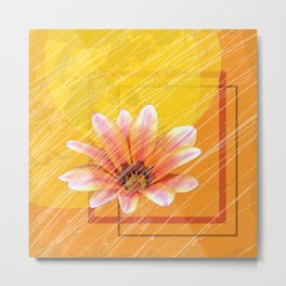 daisy yellow morning Metal Print