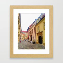 Kanonicza Street is one of the most beautiful streets in Krakow Framed Art Print
