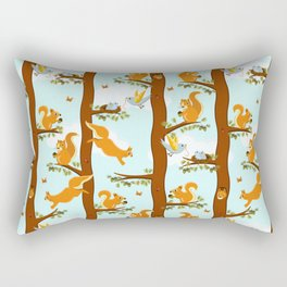 squirrel party Rectangular Pillow