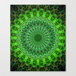 Detailed mandala in green color Canvas Print