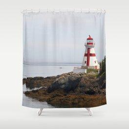 Head Habour Lightstation - Campobello Island New Brunswick Canada Shower Curtain