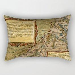 Map Of The Holy Land 1544 Rectangular Pillow
