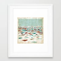minimal Framed Art Prints featuring Sea Recollection by Efi Tolia