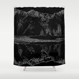 Knik River Mts. Pop Art - 4 Shower Curtain