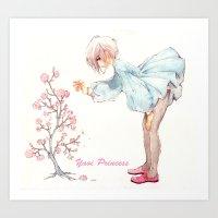 yaoi Art Prints featuring Yaoi Princess Sakura by SpaceMonolith