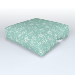 Snowflakes Outdoor Floor Cushion