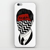 twin peaks iPhone & iPod Skins featuring Twin Peaks by Black Neon