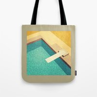 pool Tote Bags featuring Pool by Herb Vaine