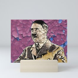 Adolf Scrapped Surface Old Forgettable Wall Holes Violent Mini Art Print