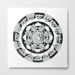 Balanced Moon Metal Print