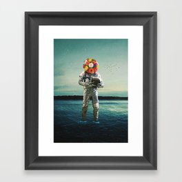 Forget why I came here And I forget why I stay Framed Art Print