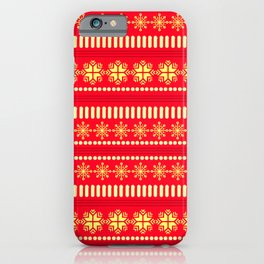 CHRISTMAS TREASURE- RED iPhone Case