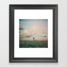 Happy Dog  Framed Art Print