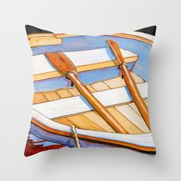 Row Boat Too Throw Pillow