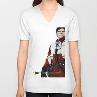 poe V-neck T-shirts featuring Poe by KL Design Solutions