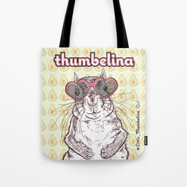 Little Thumbelina Girl: heart sunnies Tote Bag