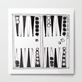 backgammon - zwei Metal Print