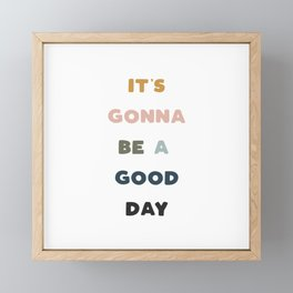 Have A Good Day - Retro Rainbow Framed Mini Art Print