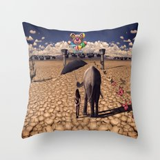 The road to hedonisum Throw Pillow