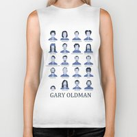 actor Biker Tanks featuring Gary Oldman by Derek Eads