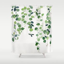 Eucalyptus Watercolor 2  Shower Curtain